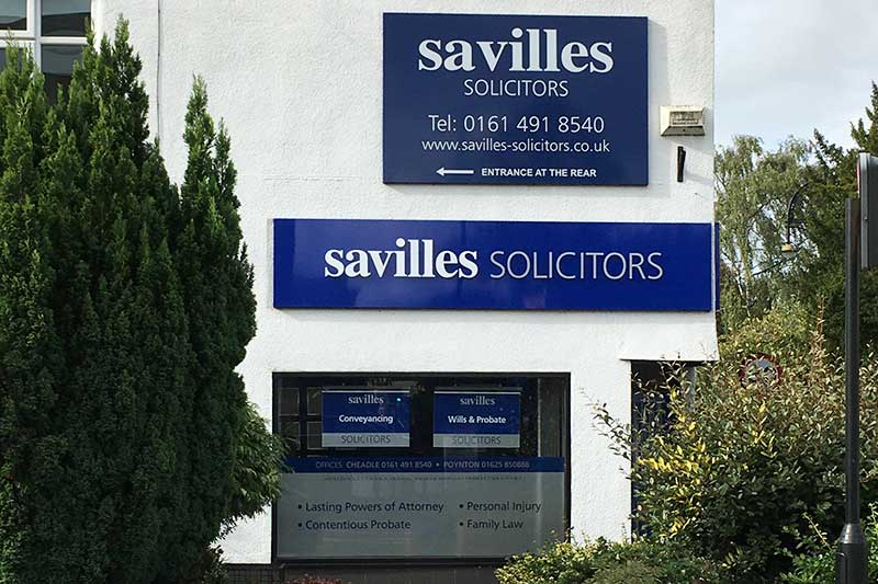 An exterior photo of  Savilles Solicitors based in Cheadle
